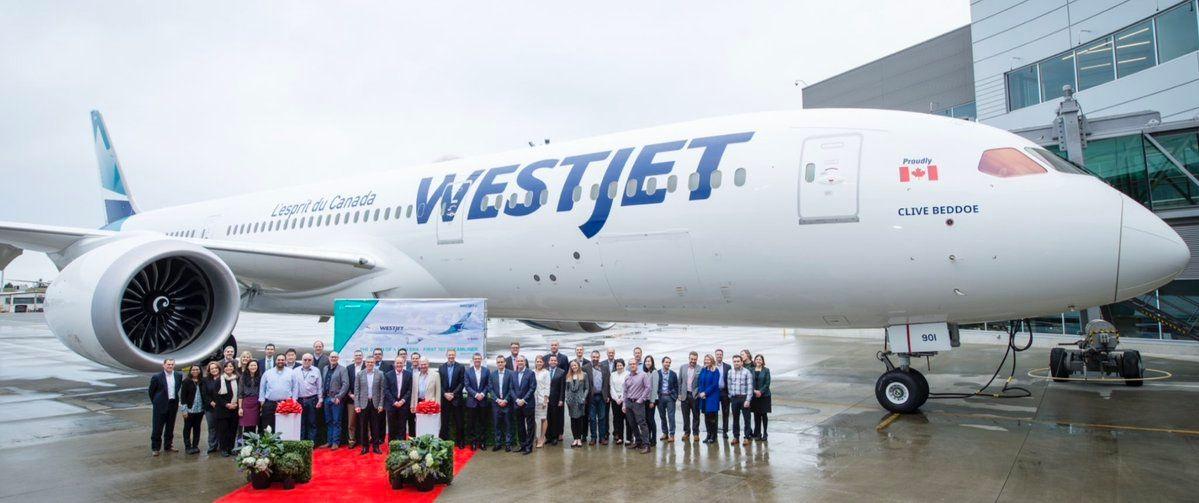 波音向加拿大西捷航空交付其首架787-9梦想飞机