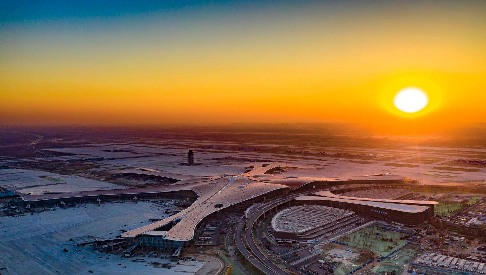 大兴机场明日校飞,记者实地探访机场准备情况