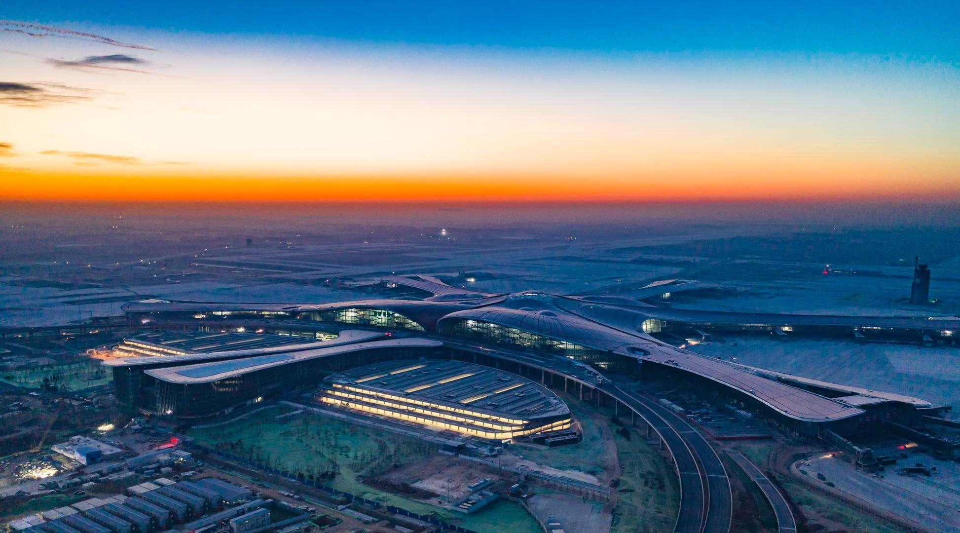 图片 大兴机场明日校飞,记者实地探访机场准备情况
