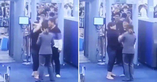 韩女子在曼谷机场掌掴安检员 却只被罚32美元
