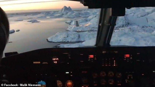 穿越到星战?客机降落格陵兰冰雪跑道视频引热议