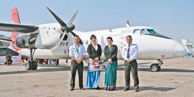 """中国飞机已在尼泊尔服役5年 被赞""""空中彩虹"""""""