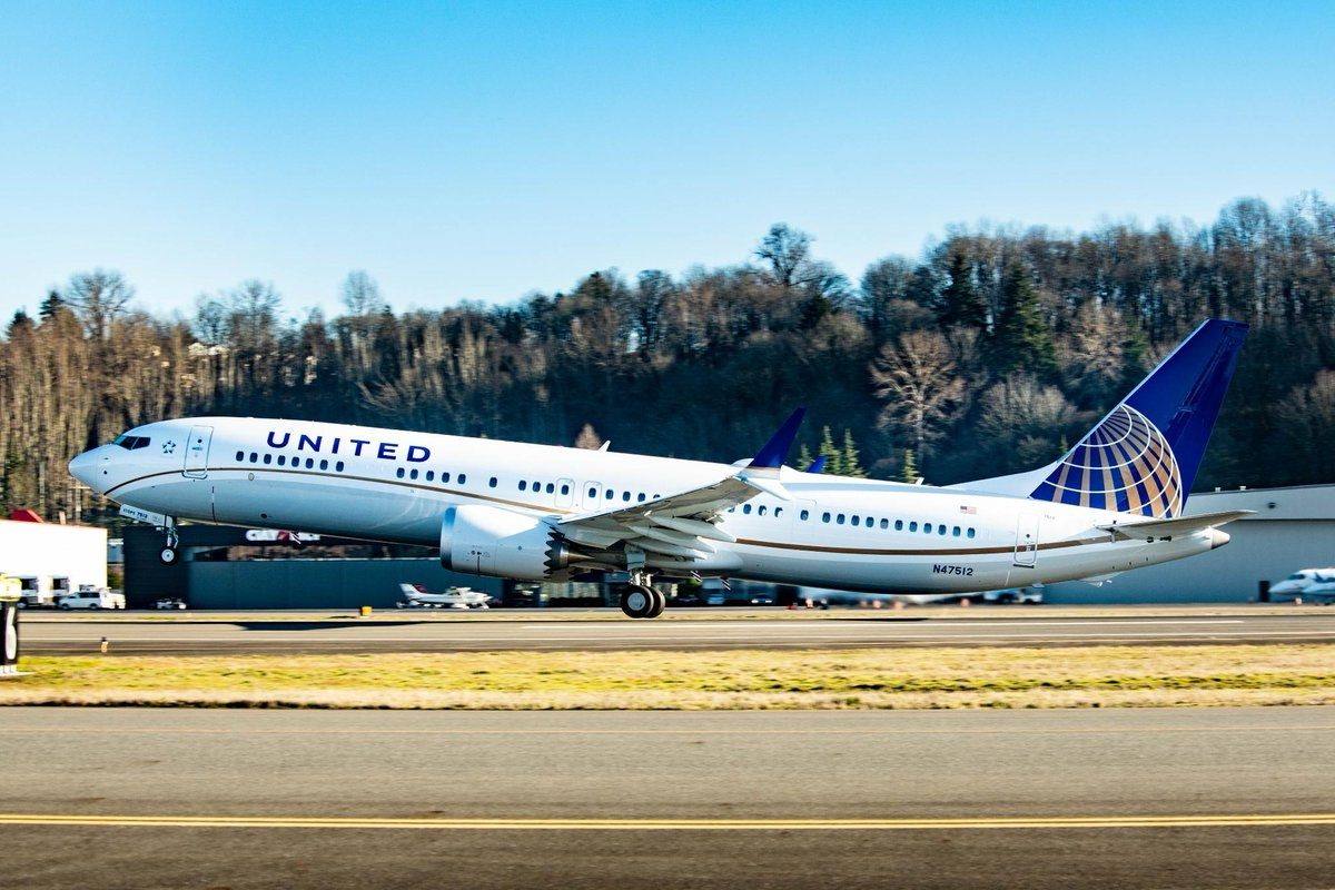 美联航接收其第1600架波音飞机