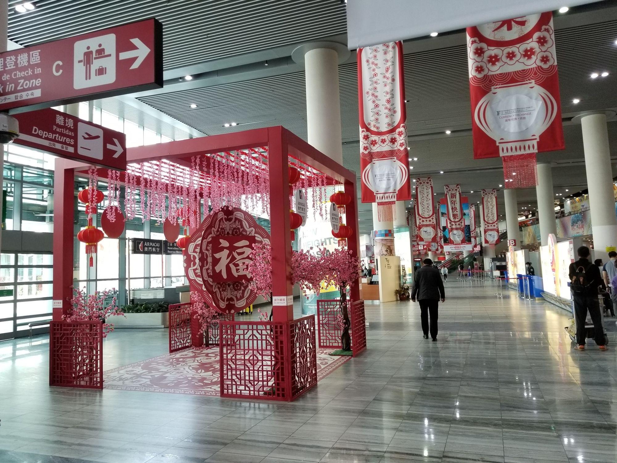 澳门国际机场1月份客流量同比上升20% 春节期间增开200个航班