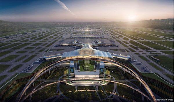 昆明长水机场T2:打造国内领先超大型综合交通枢纽。来源:中国日报网