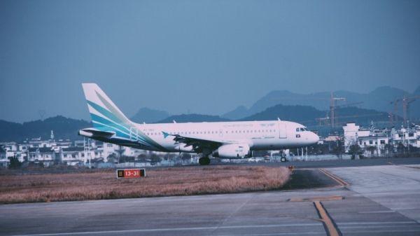 澜湄航空LQ850航班正在滑行