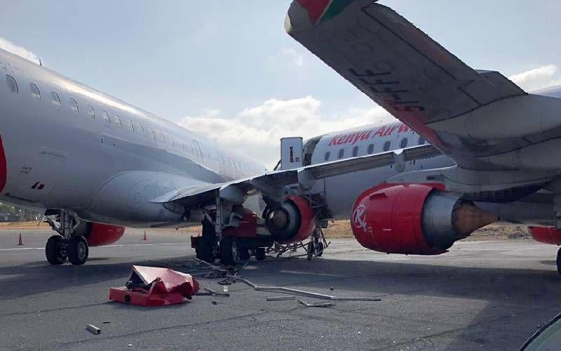 肯尼亚航空两架E190维护时相撞 飞机严重受损