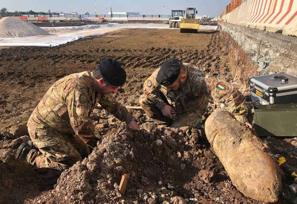 罗马钱皮诺机场发现二战遗留爆炸物