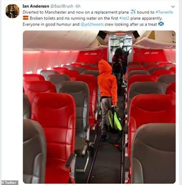 新飞机出现小故障 国际航班上没水冲咖啡中途降落