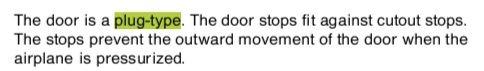 AMM手册对登机门的描述