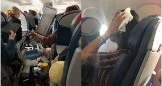 达美客机高空遇强烈乱流酿5伤,机舱内狼藉一片!
