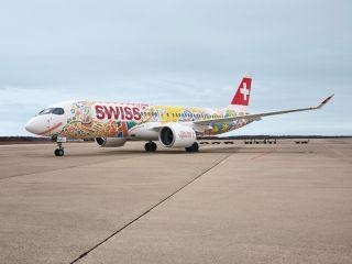 葡萄种植者节来临 瑞士航空客机彩绘涂装庆祝
