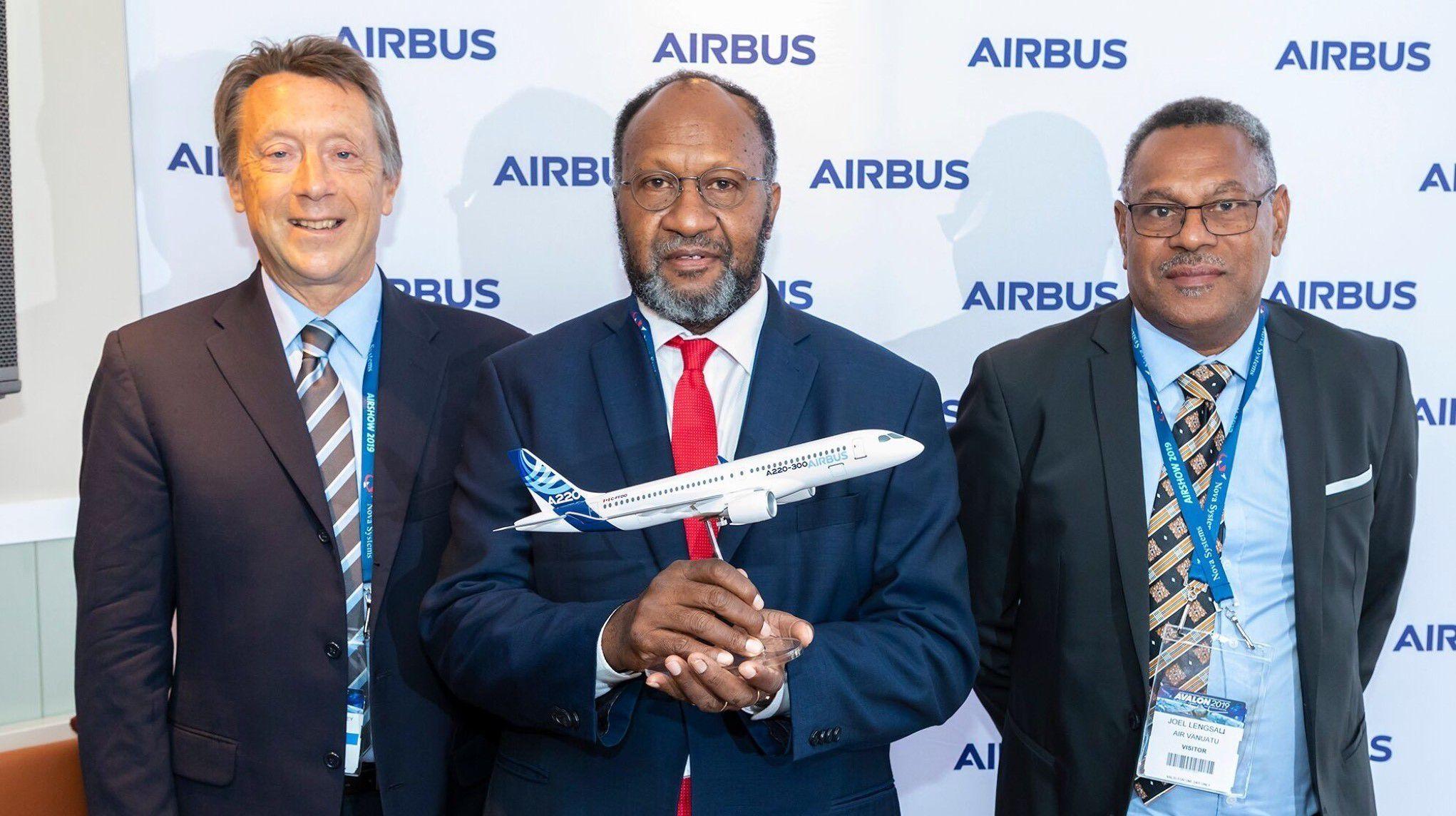 瓦努阿图航空确认订购4架空客A220飞机