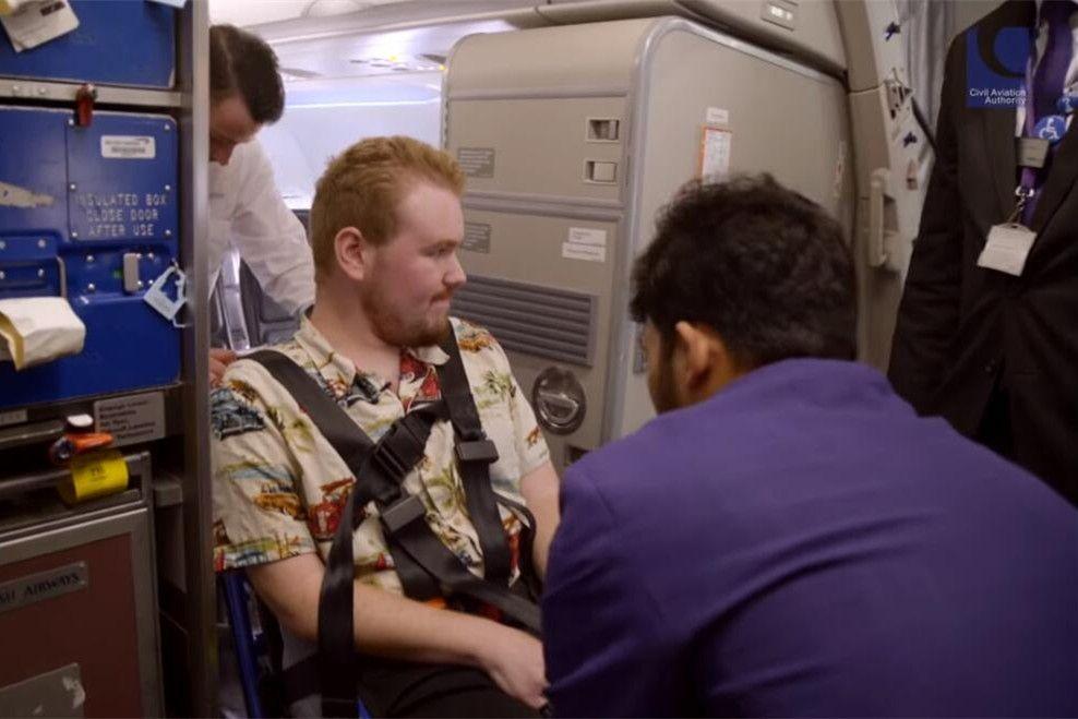 这部影片解答了轮椅旅客关于飞行的疑虑