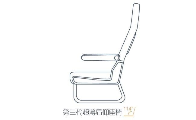 """春秋航空推出全新""""轻薄后仰""""飞机座椅"""
