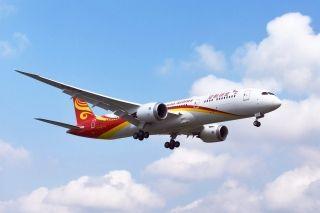 金鹏航空787-9梦想客机首航浦东至三亚航线