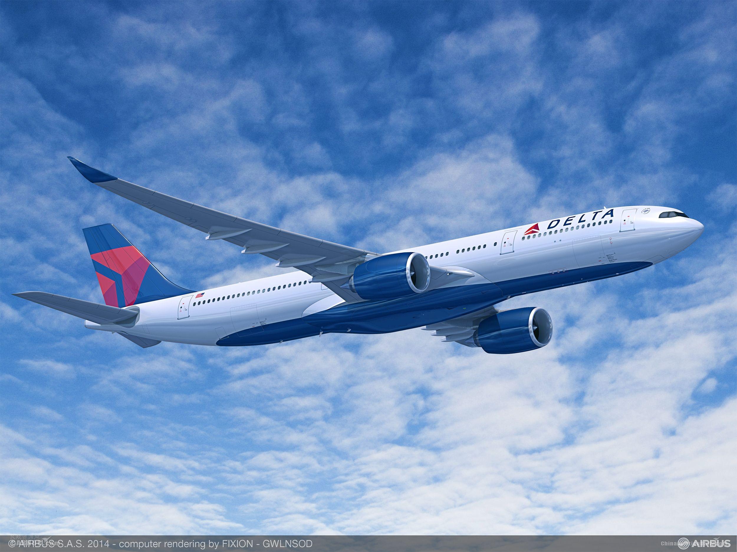 達美航空新一代A330-900neo將執飛上海-西雅圖航線