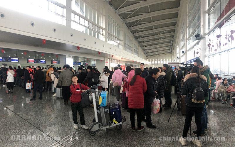 """春运常德机场创""""三项纪录""""运送旅客超10万人次"""