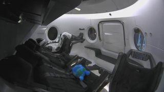 美国SpaceX载人龙飞船首次升空 航空舱内部曝光