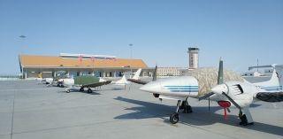 富蘊機場保障天翔航院4架訓練飛機成功進駐
