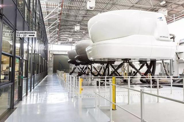 CAE生产的飞行模拟机
