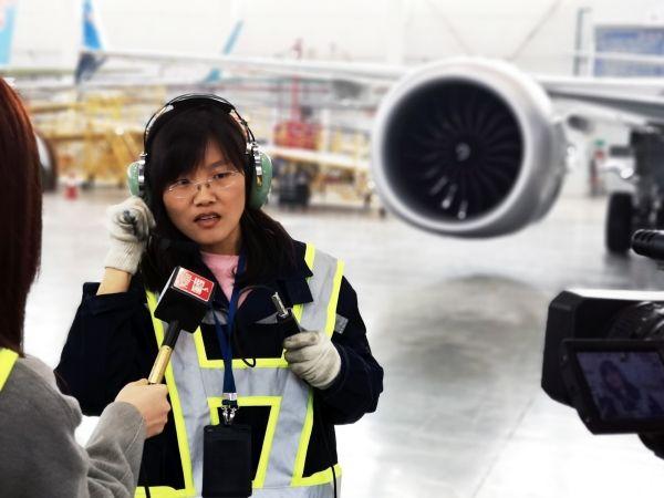 """南航新疆发动机工程师闫雪:聆听飞机""""心跳""""的声音"""