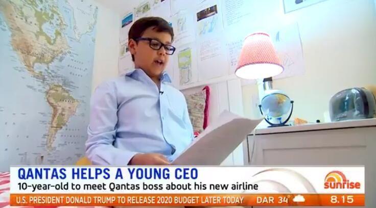 10歲男孩夢想當航司CEO 沒想居然收到了真CEO來信!
