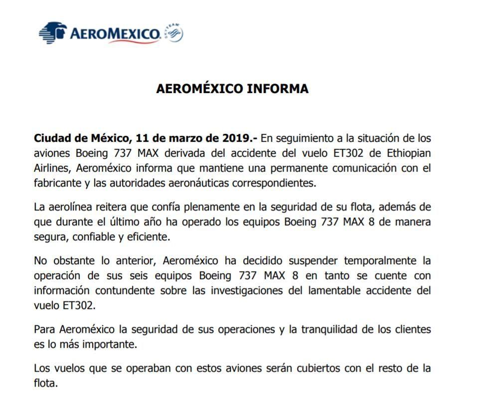 墨西哥航空宣布停飞737MAX