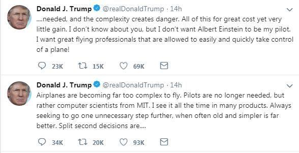 特朗普Twitter截图