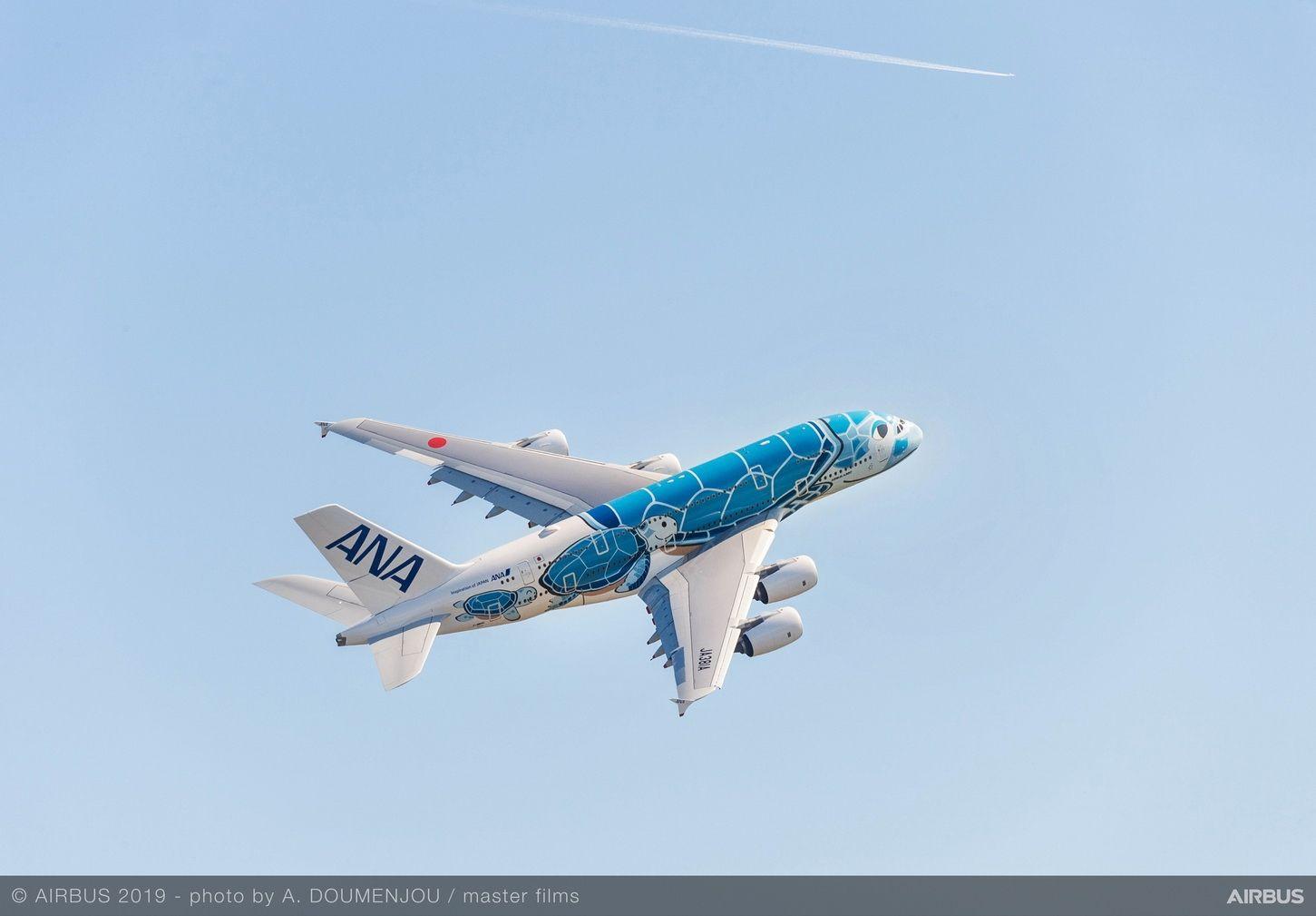 全日空航空接收其首架空客A380飛機