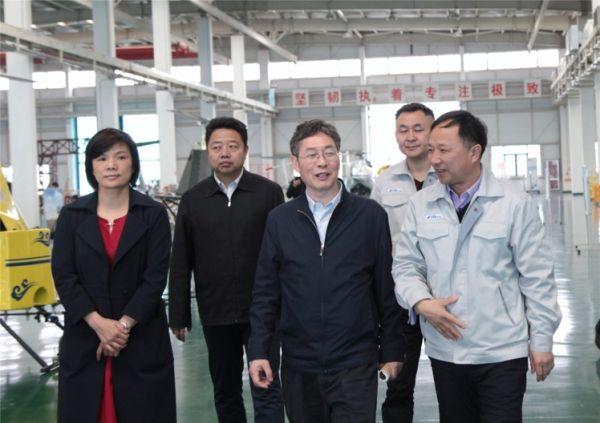 國家發改委領導一行調研北京通航江西直升機