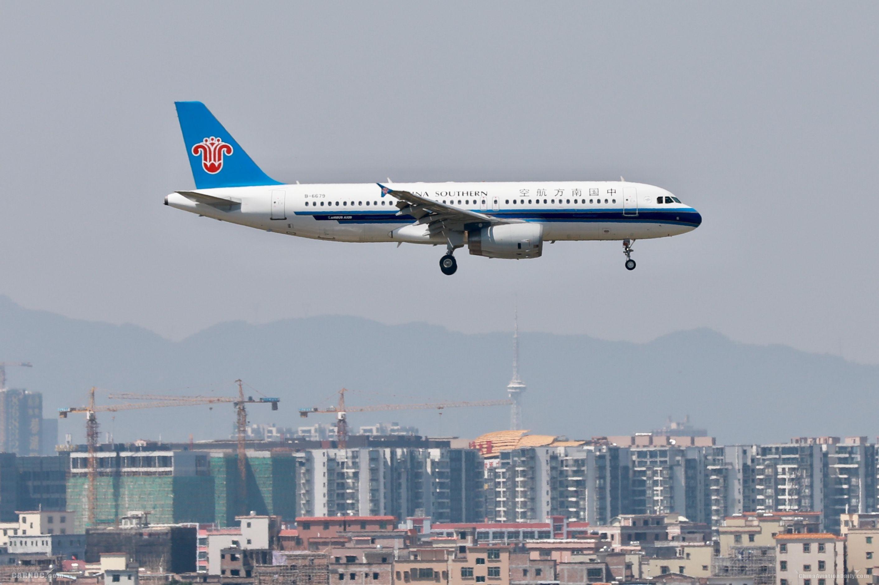 南航11月客座率为82% 引进4架飞机
