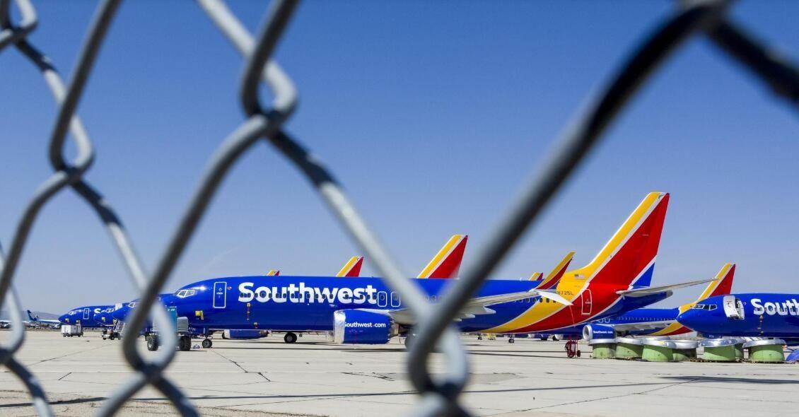 """美国西南航空开始把737MAX转移到""""飞机墓地""""进行储存"""