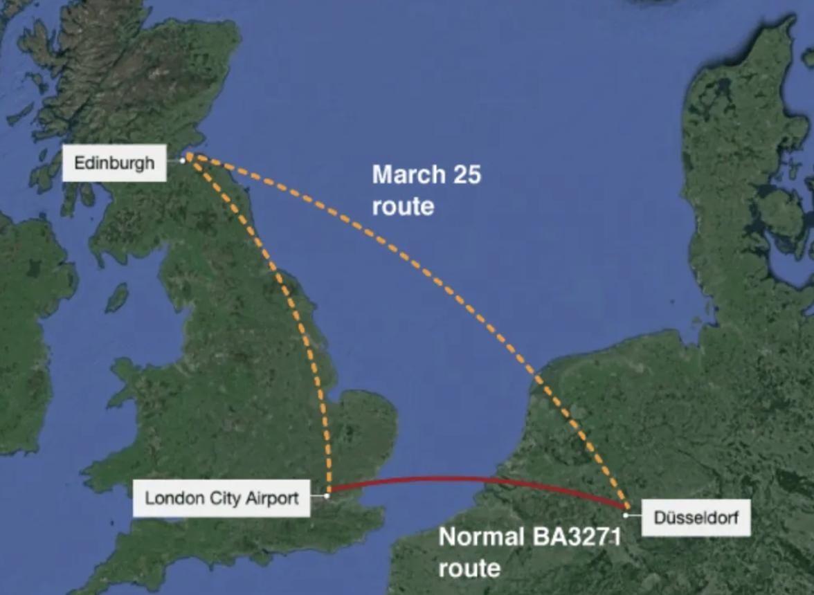 英航飛德國航班竟降落在蘇格蘭 乘客:非常沮喪