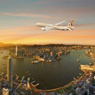 阿提哈德航空波音787梦幻客机开始执飞香港航线
