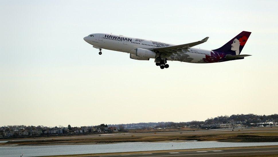4月5日,夏威夷航空的首个波士顿-火奴鲁鲁航班从洛根机场起飞。来源:夏威夷航空