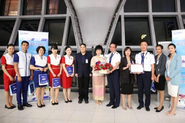 """柬埔寨航空""""金边-曼谷""""往返航线成功首航"""