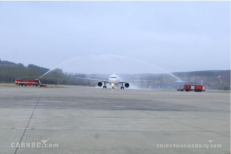 延吉机场喜迎东航首架驻场飞机