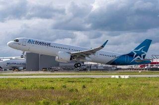 加拿大越洋航空接收其首架远程型A321LR飞机
