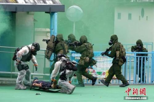 恐怖分子持枪扫射?香港机场凌晨举行反恐演习