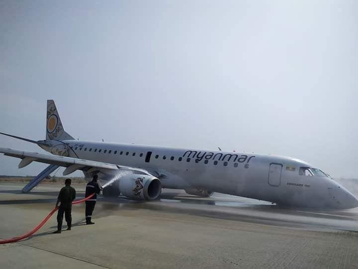 缅甸客机机头触地 飞行员这么做避免了起火爆炸