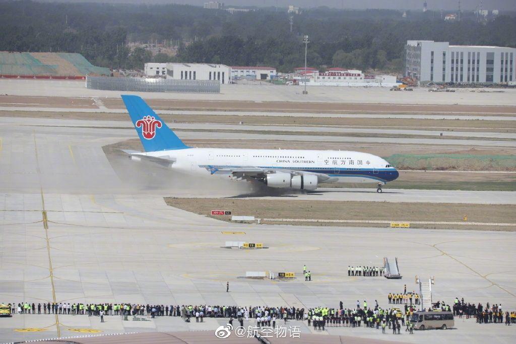 大兴机场位置独特 全国首次采用交叉跑道运行