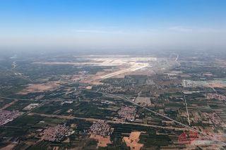 空中远眺大兴机场。摄影 徐讯/人民画报