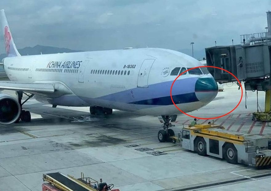 华航客机安装国泰机鼻 造型变萌被调侃整容失败