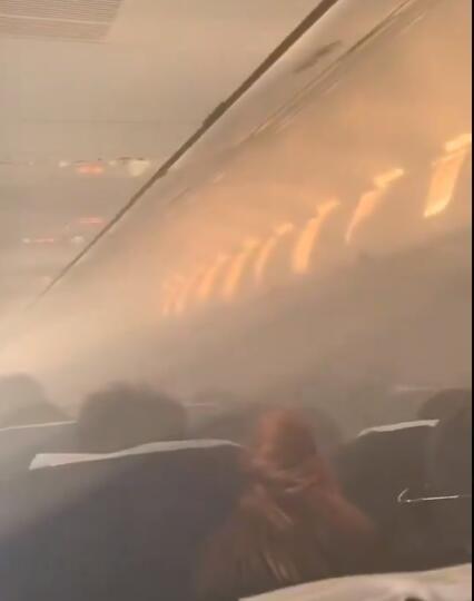 泰新时代航空飞无锡航班因客舱烟雾返航