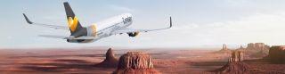 """德国神鹰航空创意海报""""分割""""地标宣传机票分期服务"""