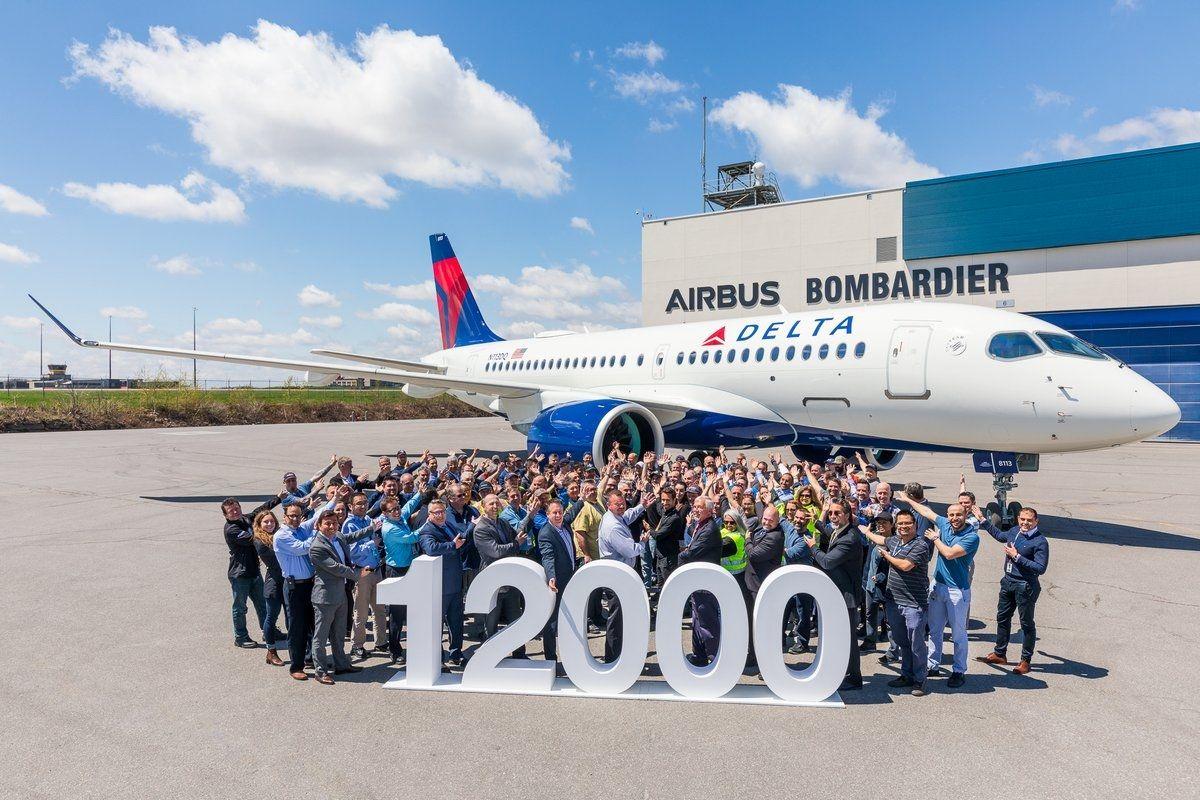 民航早报:空客交付史上第12000架飞机