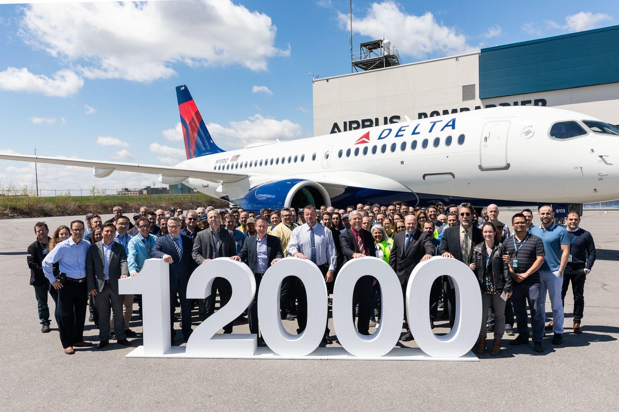 空客交付50年历史上第12000架飞机