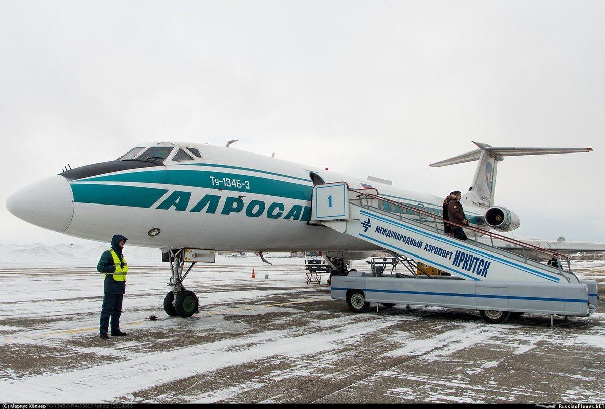 前苏联传奇客机图-134完成最后飞行