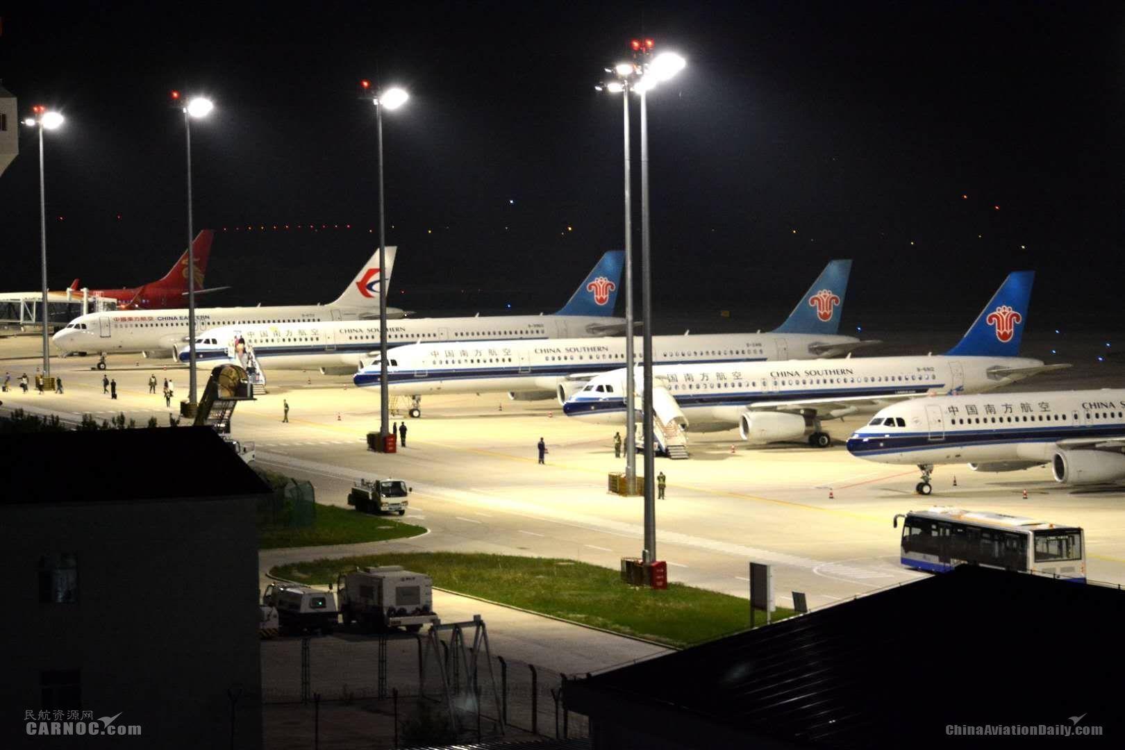 長白山機場積極應對大面積航班備降